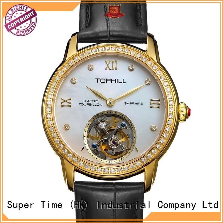 Super Time Custom affordable tourbillon watches supplier manufacturer for formal dinner