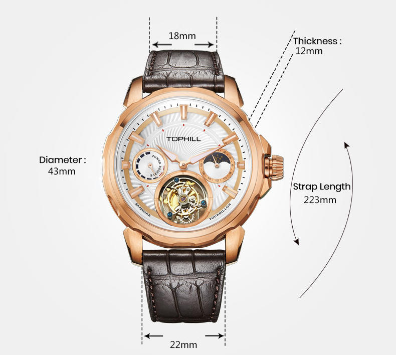 luxury oem affordable tourbillon watches manufacturer luxury manufacturer for date-3