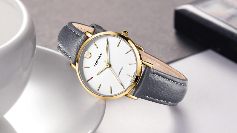 TOPHILL Elegant Ladies Wristwatches Fashion Simple Minimalism Style Stainless Steel Women Watches