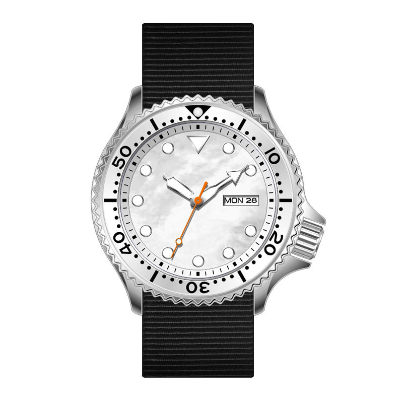 30ATM 300 Meters Water Resistant Nylon Strap Japan Automatic Movement Sports Diver Watches with Calendar G7316