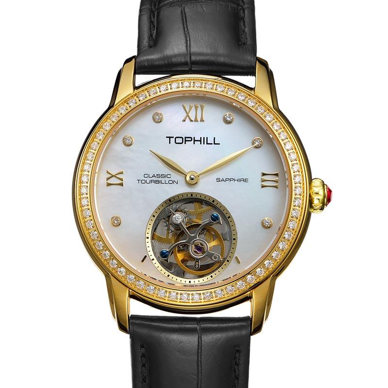 Tourbillon Watches Switzerland Made Movement Automatic Custom Design