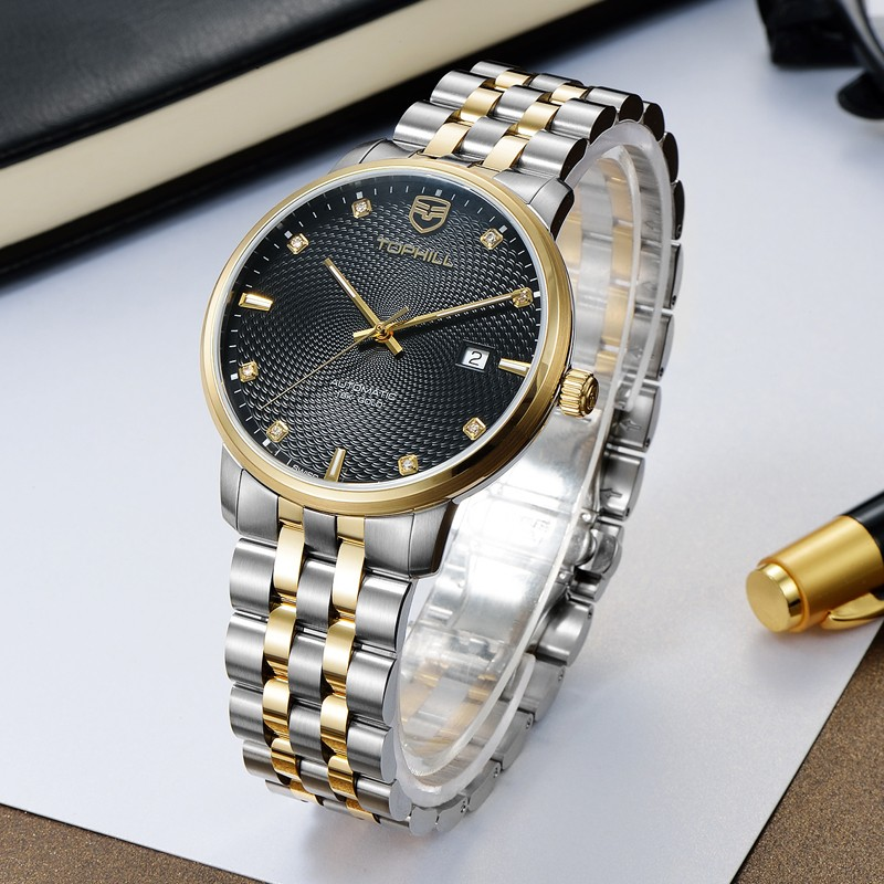 Super Time skeleton customized automatic mechanical watch wholesale for sport-6