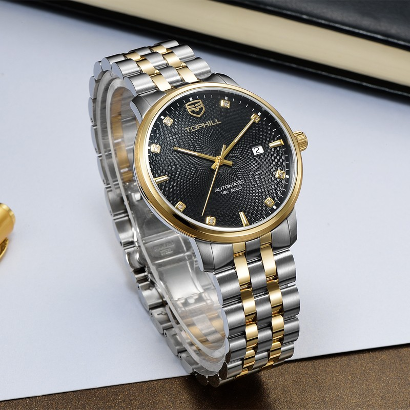 Super Time skeleton customized automatic mechanical watch wholesale for sport-7