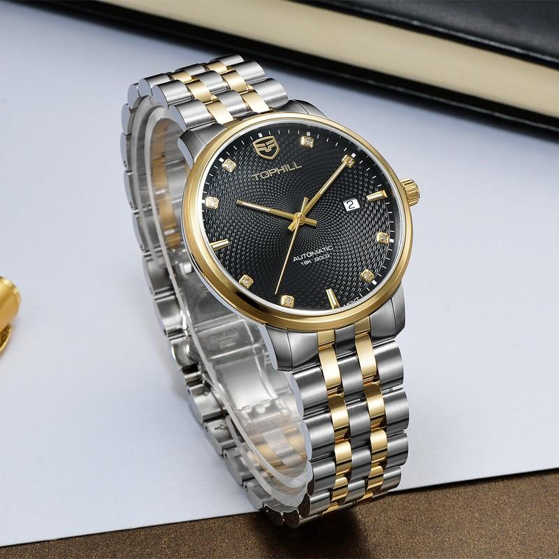 Super Time skeleton customized automatic mechanical watch wholesale for sport
