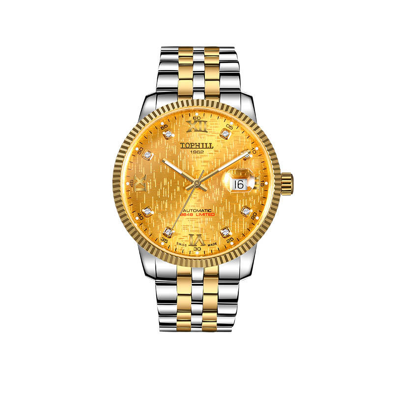 Luxury Watch Men Watches Golden Stainless Steel Automatic Mechanical Watch