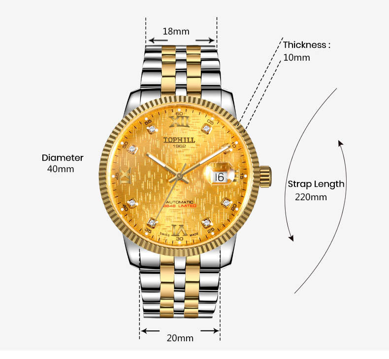 Super Time automatic mechanical automatic movement factory for dive