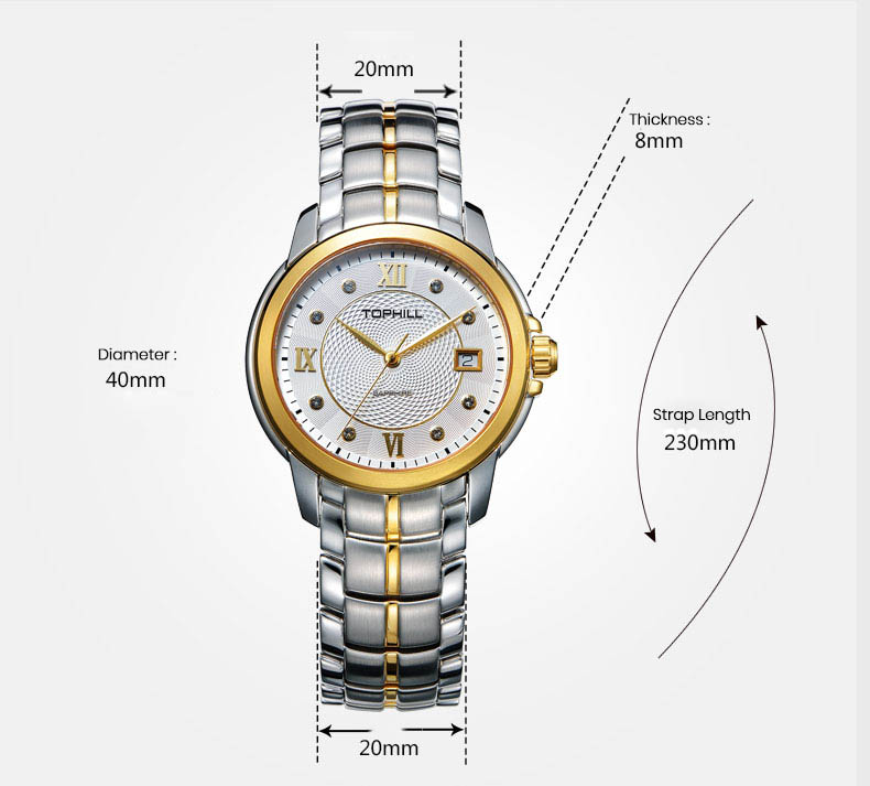 modern popular mens watches nail design for formal-4