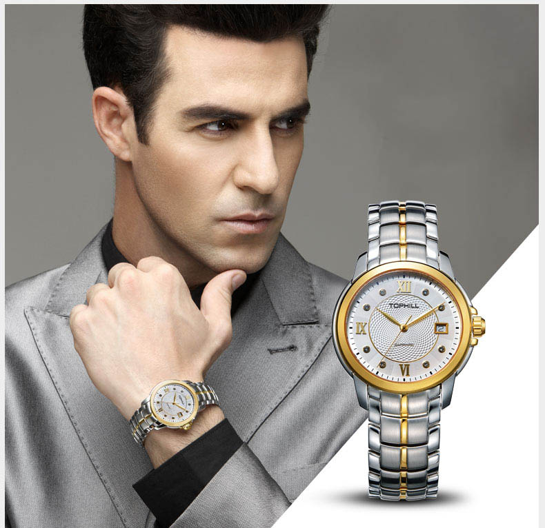 modern popular mens watches nail design for formal-7