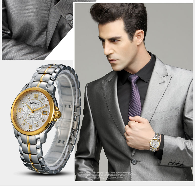modern popular mens watches nail design for formal-8