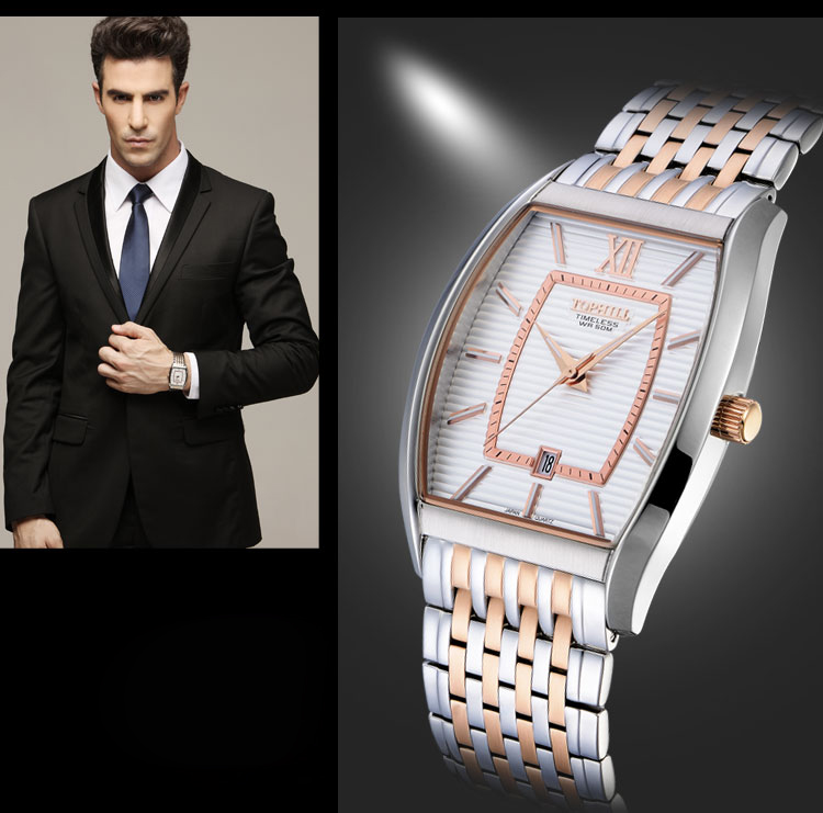 stainless steel casual watches for men quartz design for formal-7