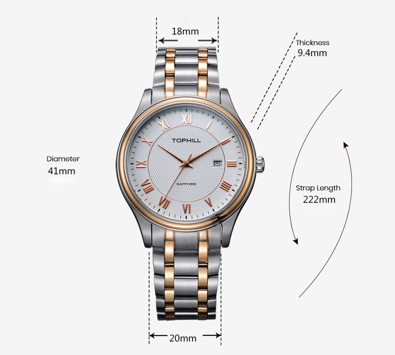 Super Time stainless steel male watches design for work-4