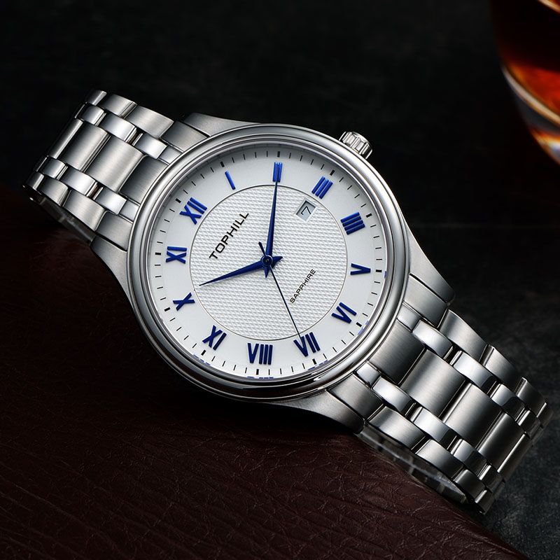 Super Time stainless steel male watches design for work-5