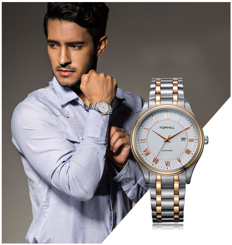 Super Time stainless steel male watches design for work-7