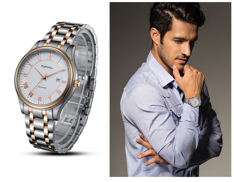Super Time stainless steel male watches design for work-8