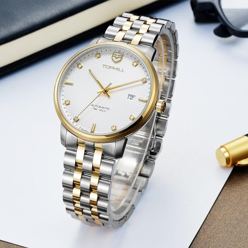 Super Time skeleton customized automatic mechanical watch wholesale for sport-3