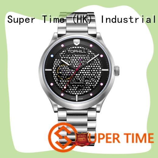 silverblack auto mechanical watches movement for work Super Time