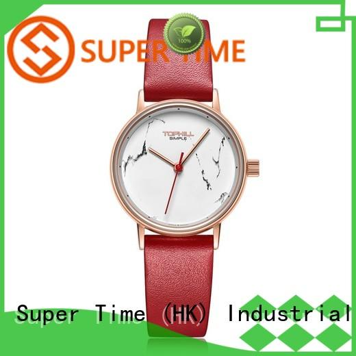 leather band quartz watches for girl roman supplier for business