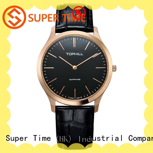 Super Time strap luxury men's quartz watch design for formal dinner