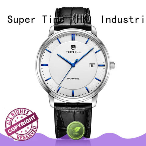 All Stainless Steel Men Quartz Wrist Watch With Japan Movement 50 Meters Water Resistant