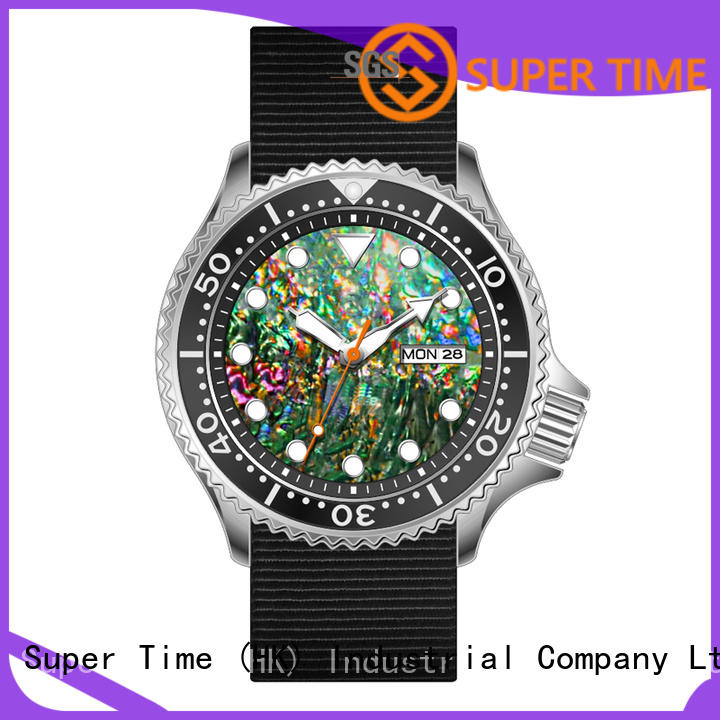 Super Time luminous custom watch manufacturers movement for diver