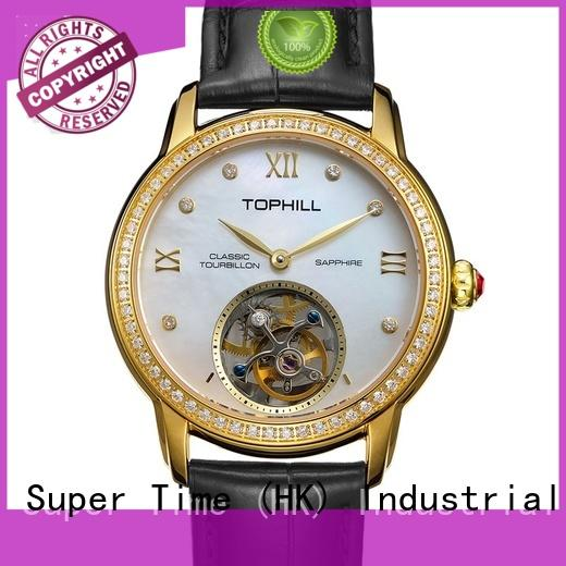 stainless steel cheapest tourbillon watch power for formal dinner Super Time