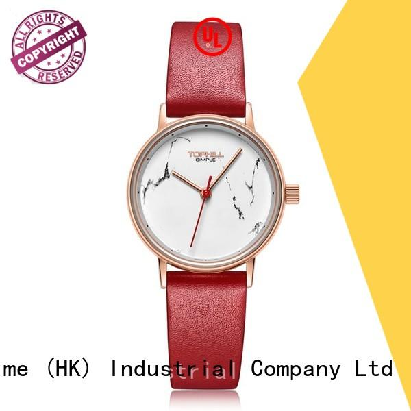 leather quartz watches for girl manufacturer for formal dinner