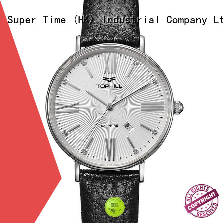 ladies hand watch leather for business Super Time