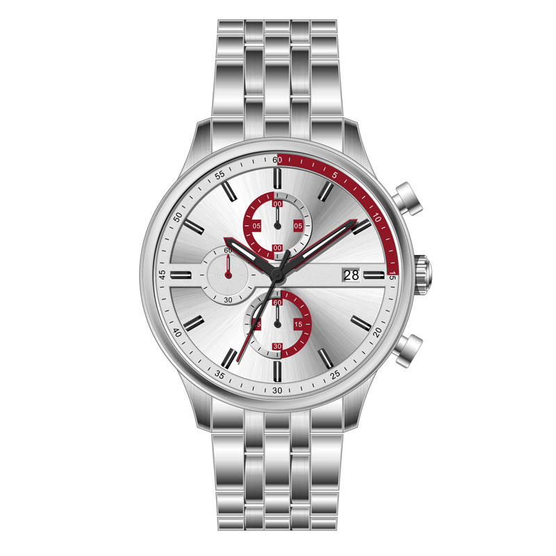 MuMultifunctional/Chronograph Fashion Sport 5ATM Waterproof Stainless Steel Men Wrist Watch