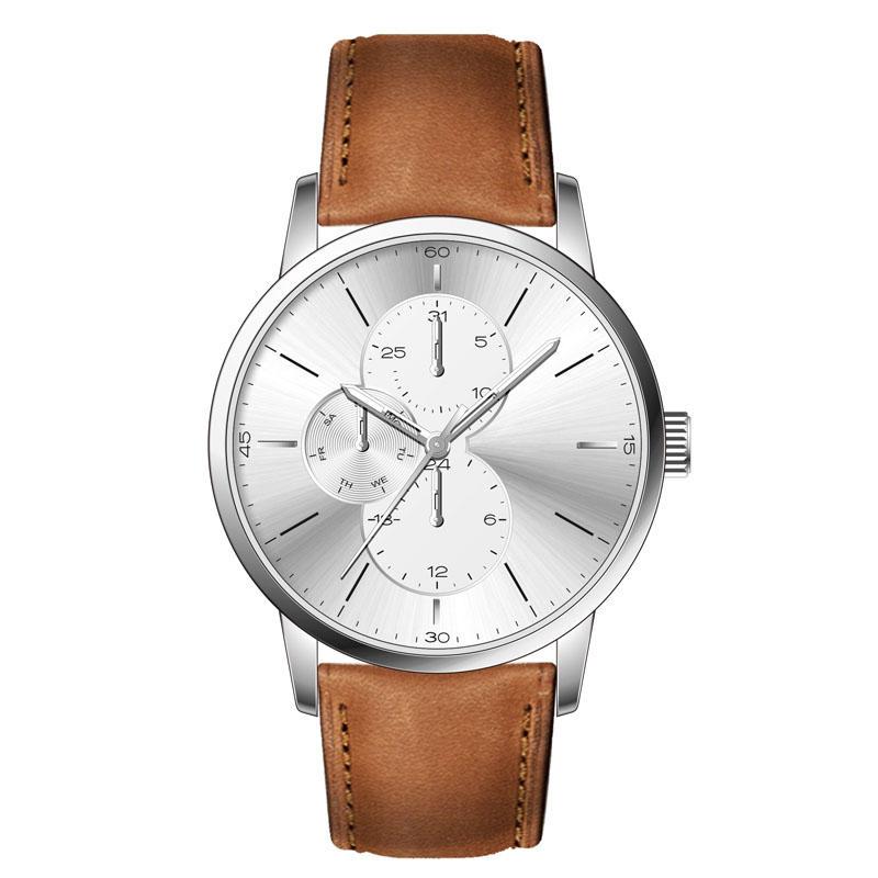 Multifunctional Fashion 5ATM Waterproof Stainless Steel Case Back Men Wristwatch