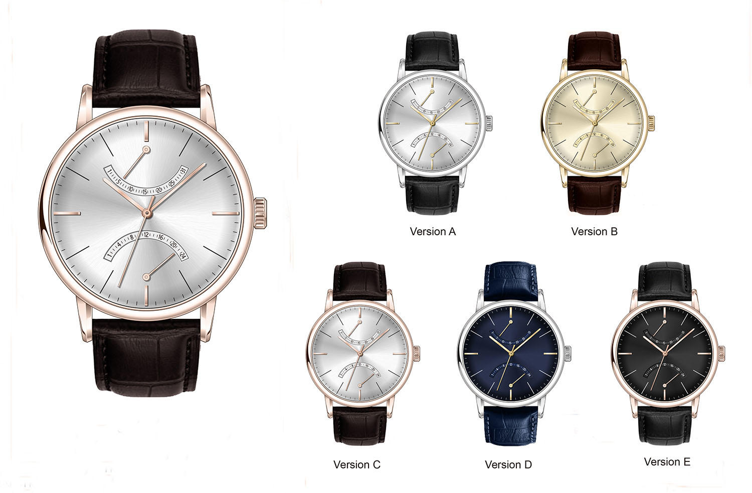 Super Time waterproof chronograph watches for men dials for date