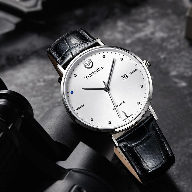 Minimalist Design  Japan Quartz Leather Strap Men Watch