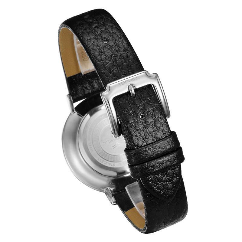 Big Dial Roman Numerals Slim Stone Quartz Movement Lady Wristwatch