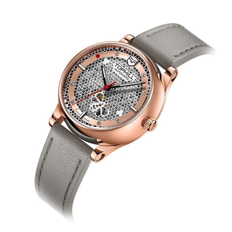 Lady Mechanical Skeleton Automatic Watch Fashion Dress Women Wrist Watch
