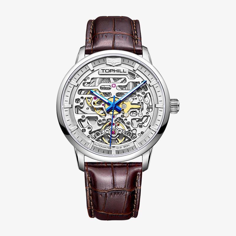 Famous Luxury Brand Skeleton Male Watch Luminous Mens Automatic Mechanical Watch