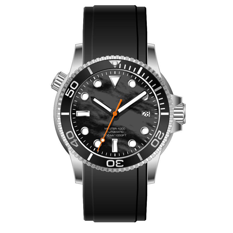 Luminous 300meter Water Resistant automatic Men Diver Wristwatches