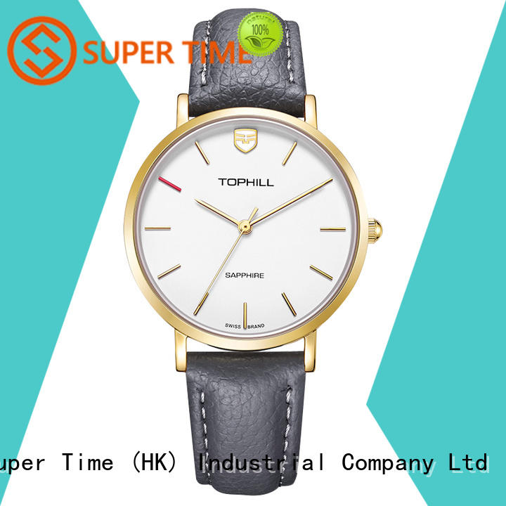 Super Time genuine luxury watch oem gold stainless for office