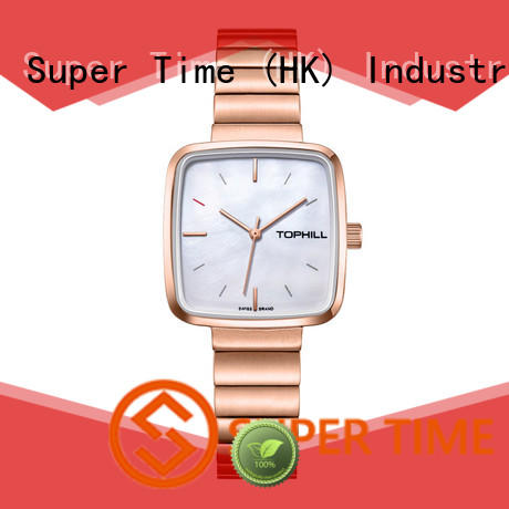 Super Time leather female watches manufacturer for business