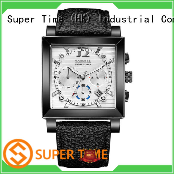 Super Time waterproof affordable chronograph watches factory for date