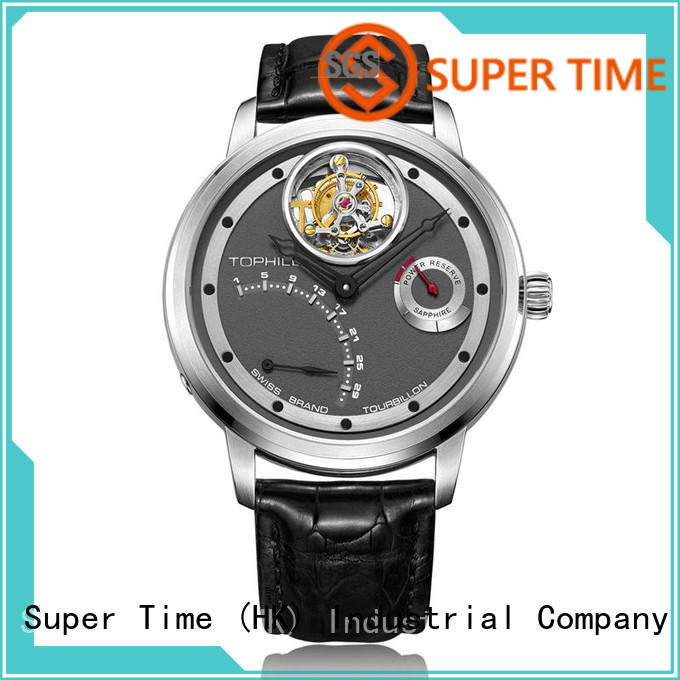 Super Time leather tourbillon watches design for formal dinner