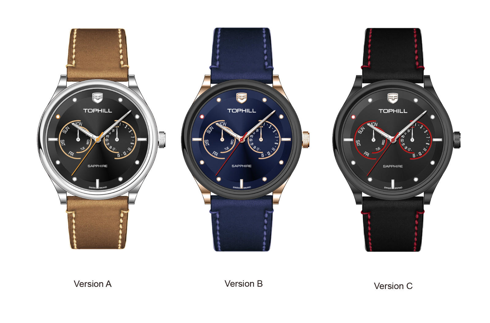 Super Time roman multifunction watches customized for adults-2