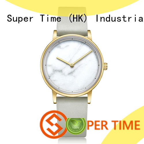 stainless steel quartz watches for girl movement for date Super Time