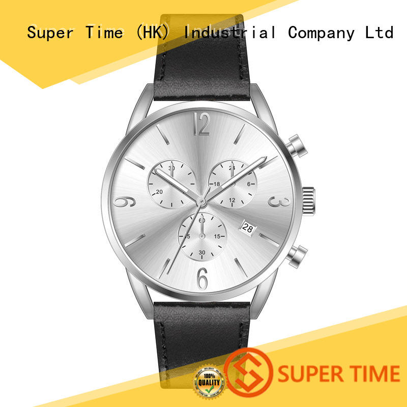 Multifunctional/Chronograph Three Sub Dials 5ATM Waterproof Men Wrist Watch