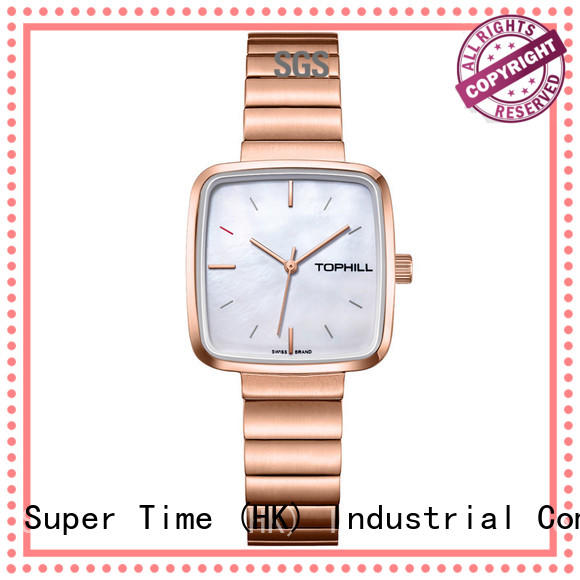 Super Time roman numerals quartz wrist watches for womens movement for date
