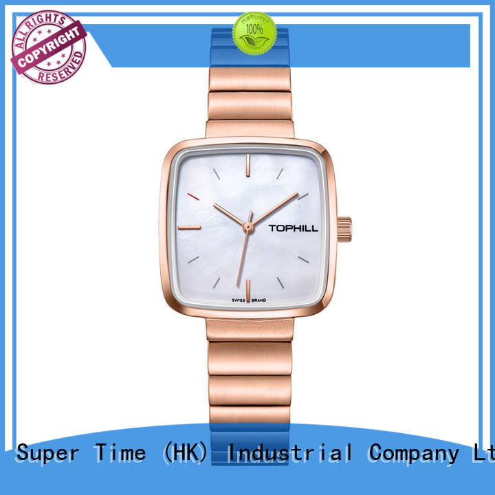 Super Time Brand slim deep stainless female watches