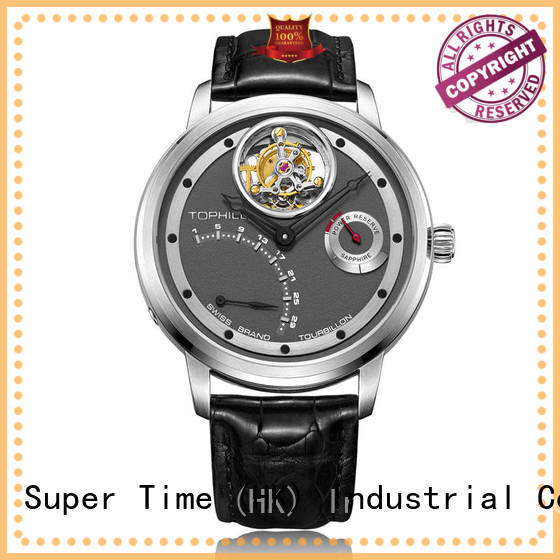 Super Time stainless steel cheapest tourbillon watch supplier for work