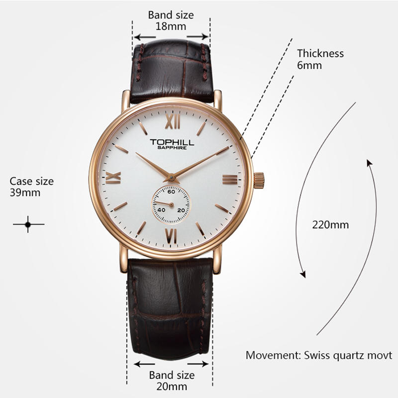 simple popular mens watches waterproof factory for work-3
